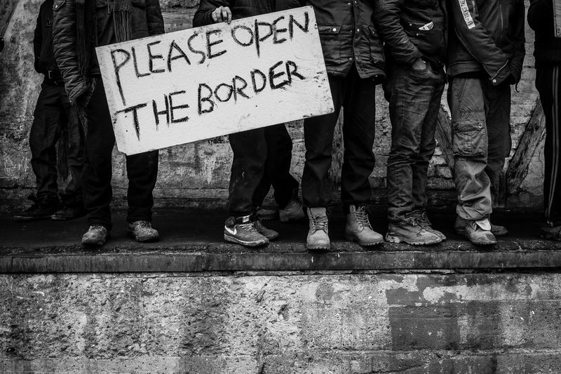 Belgrade, Serbia. Refugees appeal to European union solidarity. Afghan Appeal Belgrade,Serbia Border Bottleneck Ghost In Town Help Helping Refugees Human Leg Indifference Makeshift Migrants Pakistani Pleading Please Refugees Reportage Request Shelter Silent Scream Social Issues Stranded The Photojournalist - 2017 EyeEm Awards