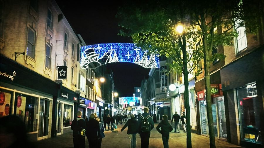Town centre, ready for Christmas!