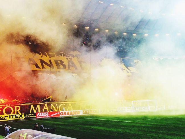 Kgdbsthlm Bådde Enjoying Life AIK Tifo Gnaget Norra Stå Fans Soccer
