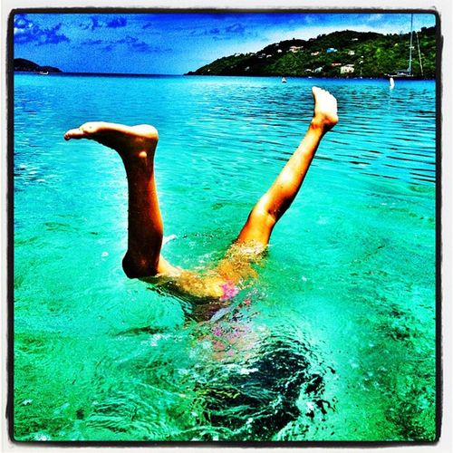 Underwater Gymnastics. #st_thomas #usvi Carnival_miracle Carribean Beach St_thomas Fun Megansbaybeach IPhoneography Megans_beach Carnival Usvi Cruising Travel Kid Underwater Island Miracle Clear Cruise Gymnastics Acrobats