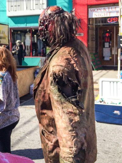 Zombie Halloween People Watching Walking Around