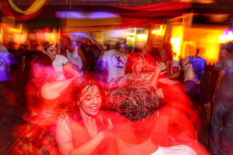Forro Dance Large Group Of People Blurred Motion Illuminated Night Motion Men Women Multi Colored Long Exposure Nightlife Outdoors Real People Enjoyment Crowd Togetherness Neon EyeEmNewHere