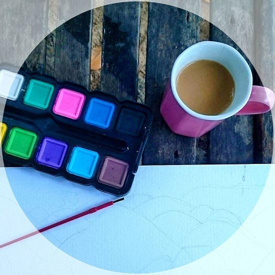 Artandcoffee Coffee Cup Coffee Caffeine Art Art Is Everywhere Watercolor Art And Coffee Art, Drawing, Creativity Watercolour Colors