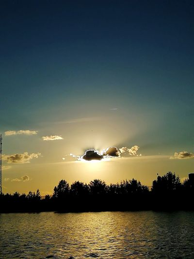 It's not Solar Eclipse but is also Beautiful. River Relax Time  Cloude Sky Eyem Nature