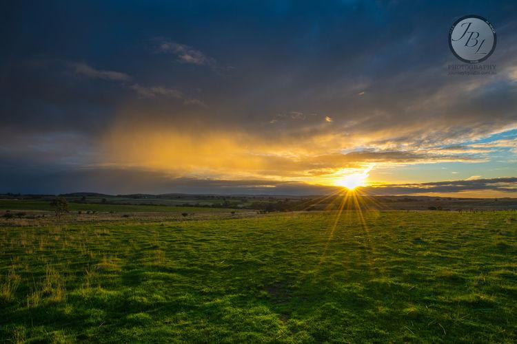 Winter sunset, Before the rain Sunset Landscape Australia Field