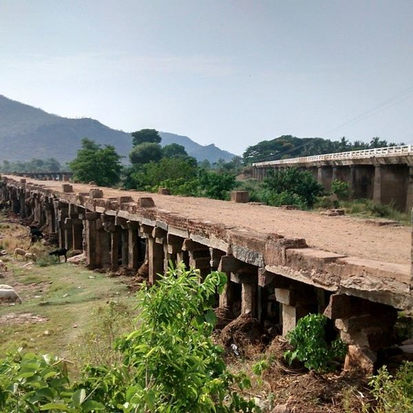 The lower of the two bridges in the picture is 900 years old. Made with stone. Talakadu IndiaTrail Bangalore Fascinating Wondersofindia