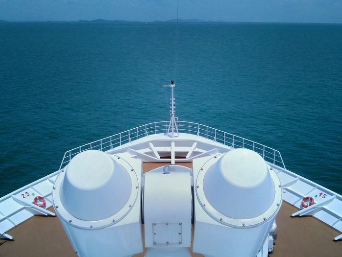 Cruise Bow Ship Bow Sea Ocean Straits Water Sea Nautical Vessel Boat Deck High Angle View Horizon Over Water Cruise Ship Passenger Craft Passenger Ship Sailing Calm