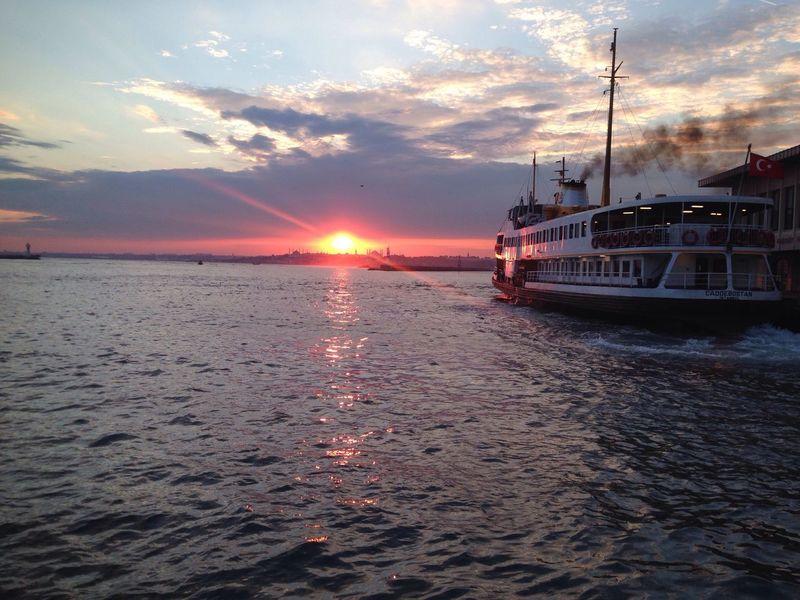 Sunset Kadikoy Ferryboat Vapur Iskelesi