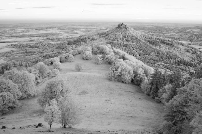 Castle Hohenzollern in 50 shades of Infrared Black and White // Infrared Landscape Nature Castle EyeEm Best Edits EyeEm Best Shots EyeEm Nature Lover Edge Of The World Getting Inspired Photography Landscapes With WhiteWall The Great Outdoors With Adobe