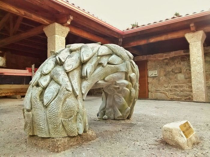 Sculpture Fish Musseum O Grove Galicia SPAIN OpenEdit The Places I've Been Today Fish Salting Musseum