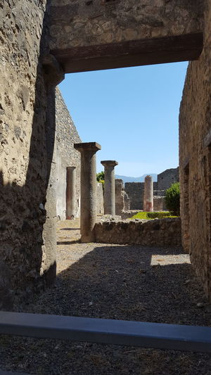 Pompéi Pompei Scavi Architecture No People Shadow History Outdoors Ruins Architecture Archeology Italia Italy Travel Destinations Light And Shadow Blue Sky The Week On EyeEm The Traveler - 2018 EyeEm Awards The Architect - 2018 EyeEm Awards