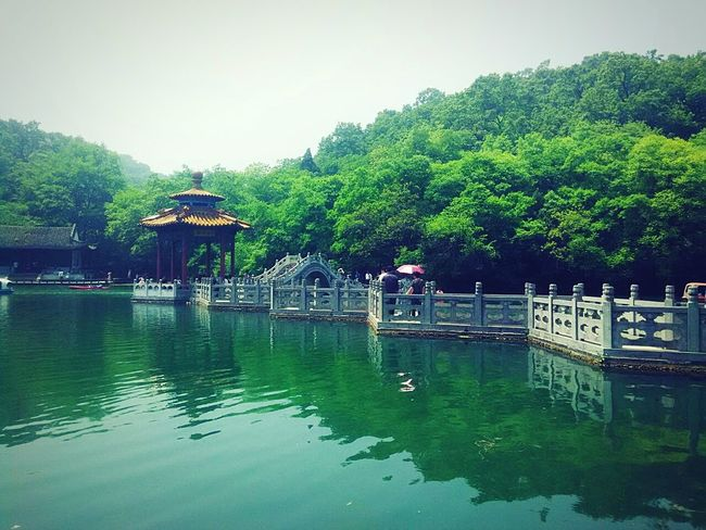 Trip Photo China Style Taking Photos China Culture Green Nature Old Building  Trees And Sky