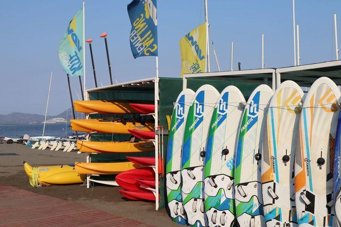 Summer Holidays 2018 Tuiblue Surfboards Sarigerme Multi Colored Water No People Sky Sea Beach Surfboards Sarigerme Multi Colored Water No People Sky Sea Beach