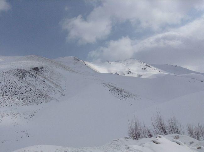 On A Trip Photoshoot Mountain View Snow ❄ Chalous Road Iran♥