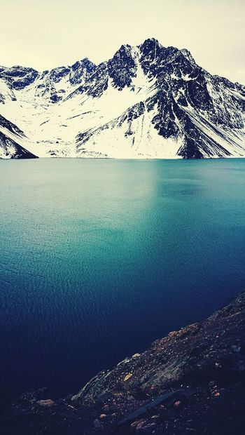 Mountain Nature Landscape Scenics Outdoors Beauty In Nature No People Sea Snow Water Day Sky UnderSea Flamingo Embalse El Yeso