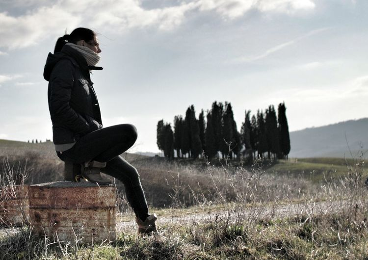 Living in a postcard Showcase: February Exploring Sunsets Afternoon Walking Around Outdoor Cypress Trees  Cypresshill Photography Italian Italy Italia Tuscanypeople Tuscany Italy Tuscany Toscana Cipresscircle Hills Valdorcia SanQuiricodOrcia Pienza Fieldscape Panorama Winter Wind
