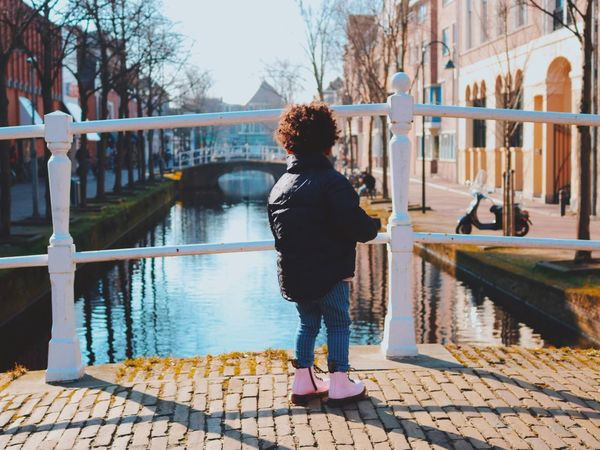 Discovering... Holland Dutch Cityescape Citytrip City Winter Baby Girl Water Bridge Delft Day Architecture