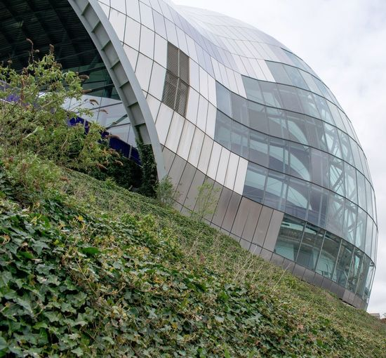 Sage Gateshead Architecture Modern Building Exterior Built Structure Futuristic Office Day Skyscraper No People Grass Sky Outdoors City Sage Gateshead