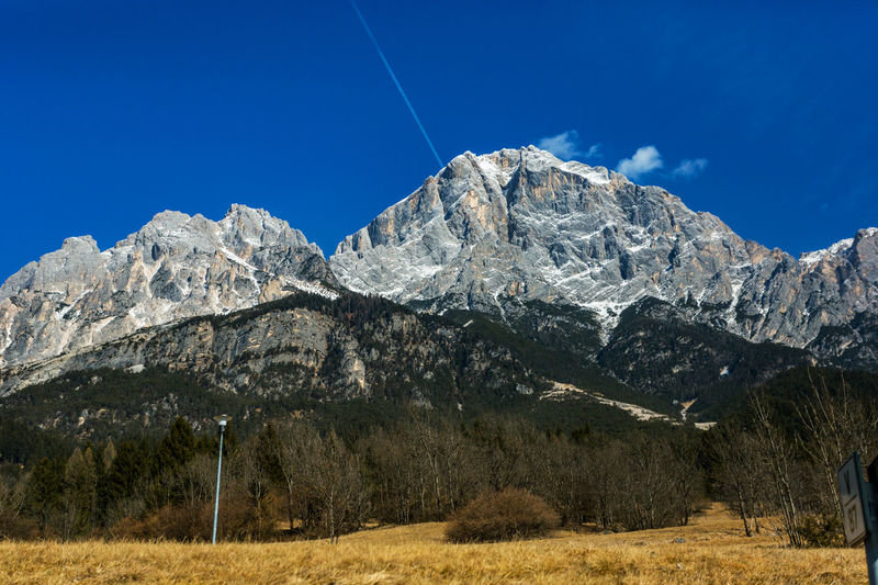Alps Alps Austria Beauty In Nature Blue Clear Sky Contrail Day Landscape Low Angle View Mountain Mountain Range Nature No People Outdoors Scenics Sky Tranquil Scene Tranquility Vapor Trail