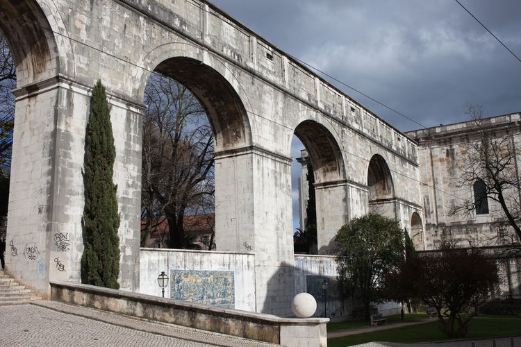 Aguas Livres Aqueduct in Lisbon, Portugal 18th Century Aqueduct Portugal Sightseeing Aguas Livres Arch Architecture Attraction Building Built Structure Europe Historic Historical History Landmark Lisboa Lisbon Monument No People Outdoors Structure
