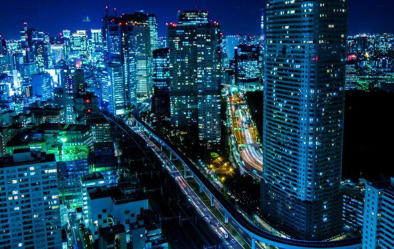 Night cityscape, tokyo, japan