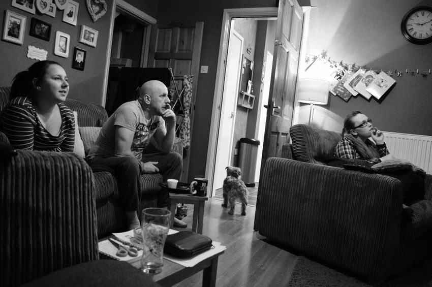 Family watching tv Hanging Out Taking Photos Blackandwhite Greyscale Monochrome