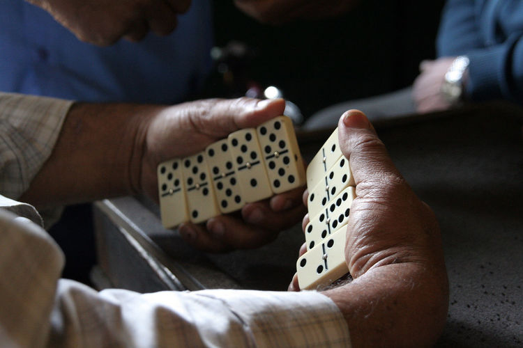 Close-Up Of Man Playing Leisure Game