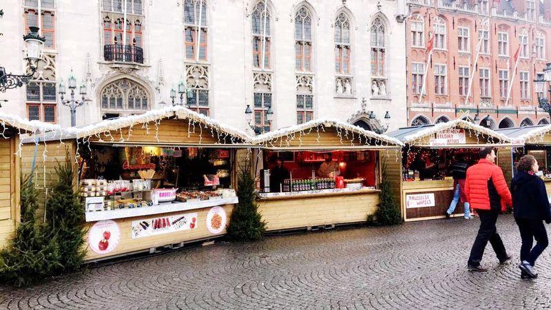 Christmastime Brugge Christmas Tree Christmas Market