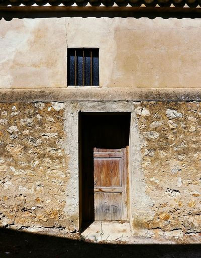 Rustic Beauty Rustic Home Facade Detail Shadows & Lights Full Frame Mallorca SPAIN No People