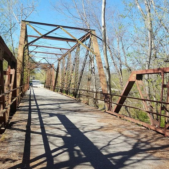 Bridge is out Shadow Metal Outdoors Railing Sunlight No People Sky Day Nature Tranquility Spartanburg, SC Glendale Shoals Love Where You Live Nature Photography Wood - Material Bridge Architecture Closed