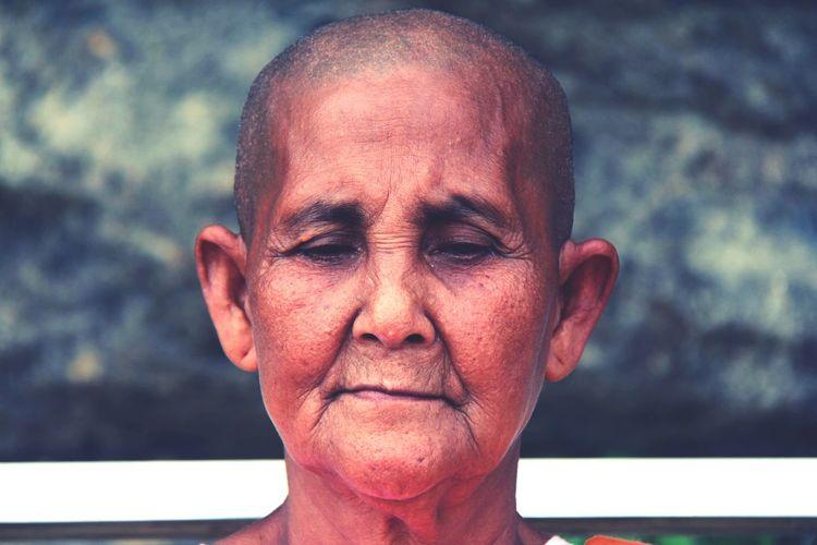 Close-up of mature woman