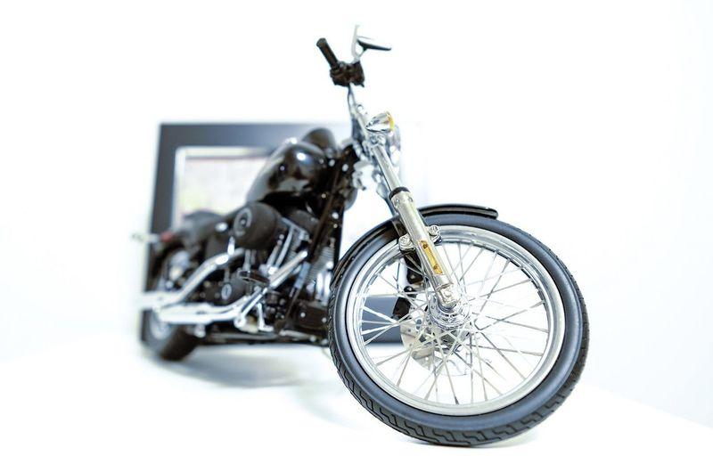 Transportation White Background Studio Shot Land Vehicle Motorcycle Harley Davidson Model High Key Small DOF
