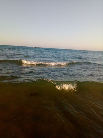 Water Wave Sea Sunset Beach City Sand Horizon Summer Sun