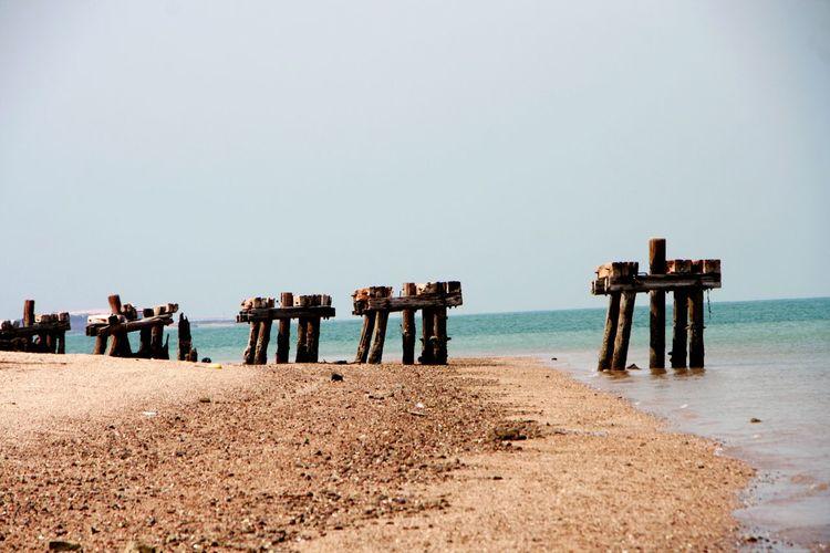 Seaside Sea And Sky Seaside_collection EyeEm Selects Water Sea Beach Sand Clear Sky Sky Horizon Over Water