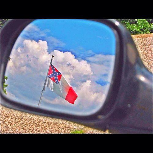 Objectsinmirrorarecloserthantheyappear Flag Cemetery Ipulledoverforthis splendid_shotz cloudsession_ bsm_shots igers_of_wv wv_igers westvirginia