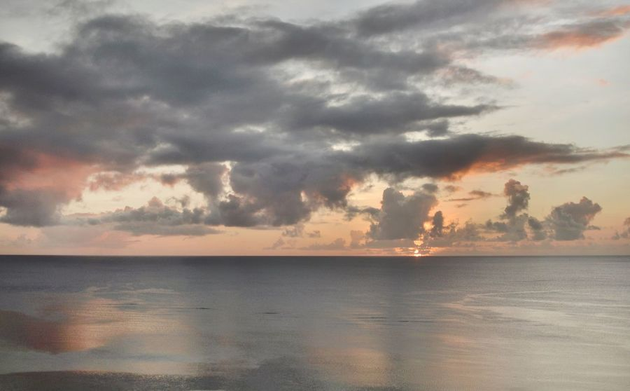 Guam 🇬🇺 Sea Sky Sunset Beauty In Nature Tranquility Water Nature Scenics No People Day Beach Landscape Outdoors Tranquil Scene Horizon Over Water