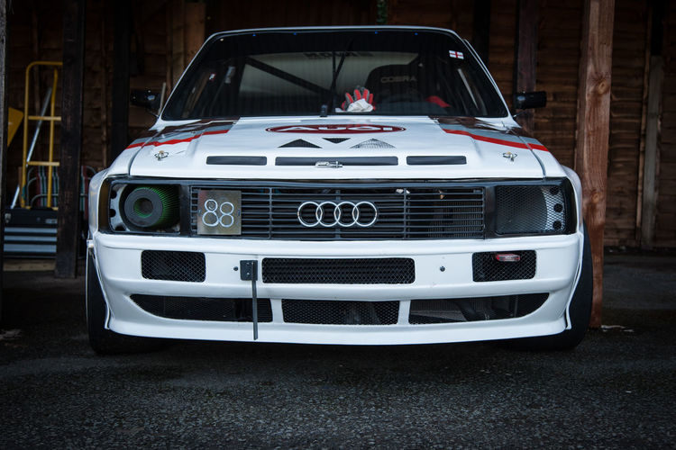 Audi at Shelsley Walsh hill climb Audi Audi Quattro Car Close-up Composition Headlight Hill Climb No People Perspective Quattro Racecar Retro Styled Shelsley Walsh Speed Transportation