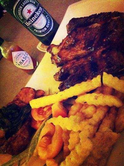 Nothing beats a meal of ribs and beer...
