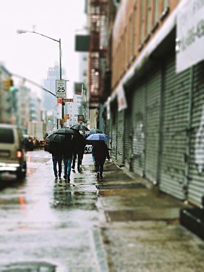 City rain can