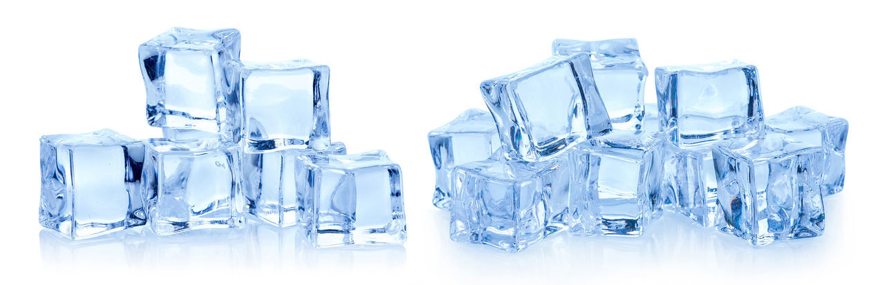 Cubes of ice on