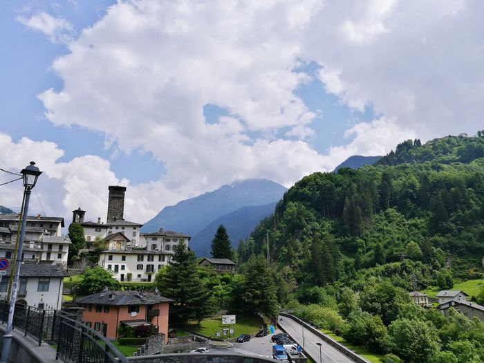 Looking forward to a weekend in the mountains! Clouds And Sky River Trees And Sky Architecture Electricity  Italy History Buildings Bell Tower Gromo Power Company Power Plant Hydroelectric Power Mountains And Sky Mountains In Background Mountains View