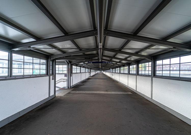 Empty elevated walkway