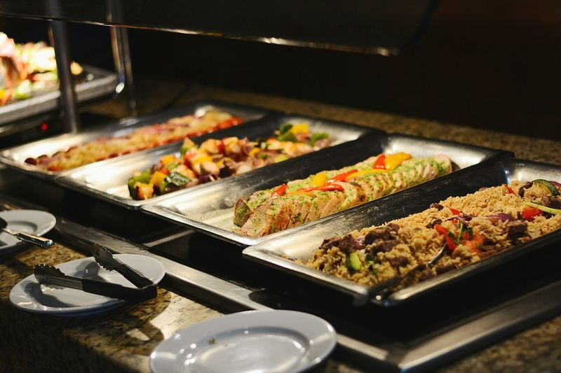 Dinner is served Food Dinner Buffet Buffetlunch Buffetstyle Steak Steak Dinner Steak House Food Photography Serve Youself Resorts Hotel Food Lunch Time Open Buffet Food Decoration Food Decor Beef Baked Chicken