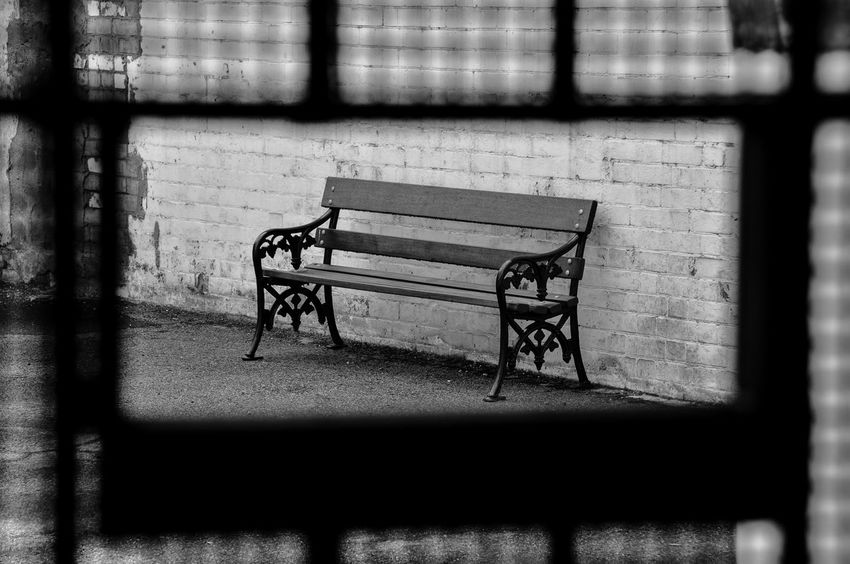 You promised you would wait for me Adelaide Adelaide Gaol Australia Bench Black & White Black And White Black And White Photography Black&white Blackandwhite Blackandwhite Photography Empty Gaol Historical Building Historical Sights History Jail Loneliness Lonely Monochrome Nikon Nikon D300s Prison Prison Cell South Australia