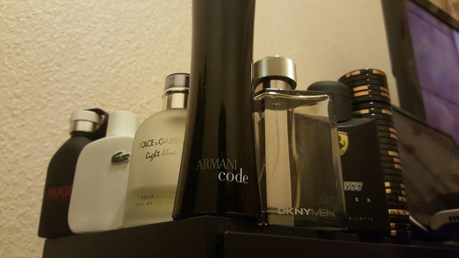 My arsenal... Smell Good Everyday Enjoying Life Perfumes Hugo Boss Lacoste Dolce & Gabbana Armani DKNY Ferrari Davidoff