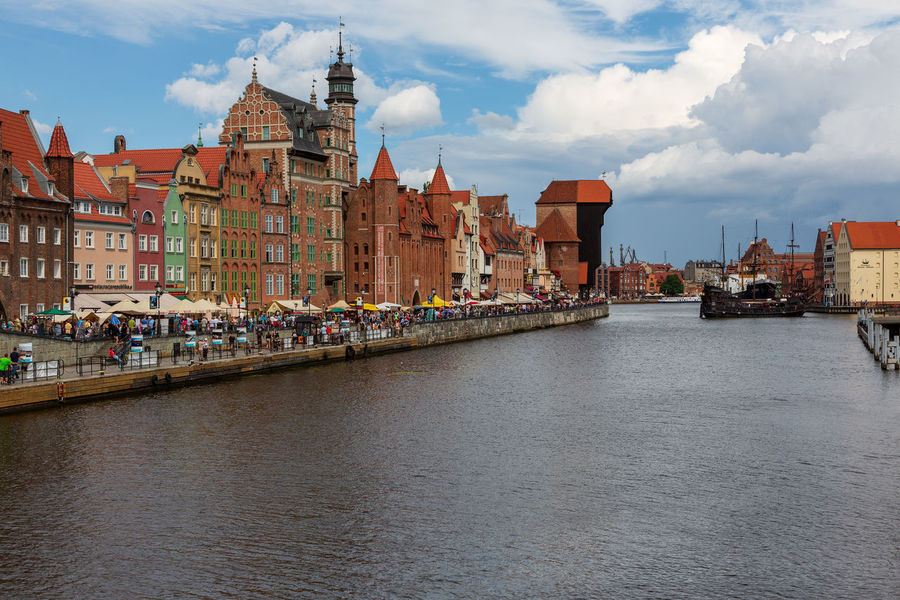 City view of Gdansk, Poland, Motlawa River Gdansk (Danzig) Gdansk, Poland Old Town Poland Architecture Bridge Building Building Exterior Built Structure City City View  Cloud - Sky Day Gdansk Motlawa Motlawa River Motława Nature No People Old Old House Old Ruin Outdoors Place Of Worship Religion River Ruined Ruined Building Sky Transportation Travel Travel Destinations Water Waterfront