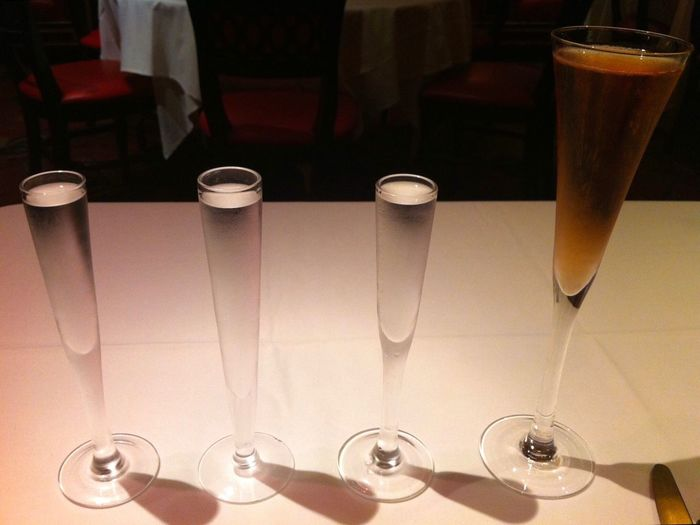 EyeEmNewHere Russian Tea Room Vodka Vodka Flight Drink Glass Table Household Equipment Refreshment Food And Drink Drinking Glass Still Life No People Alcohol Champagne Flute Restaurant Glass - Material Close-up