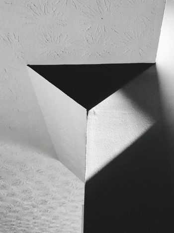 Angles and shadows... Indoors  No People Close-up Shadow Paper Architecture Day Abstract Shadows & Lights Angles Black And White Blackandwhite