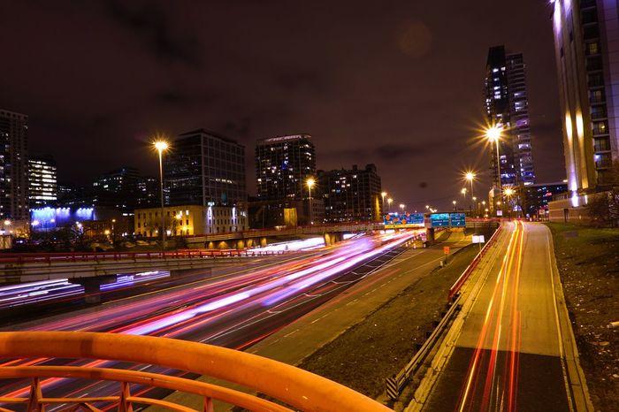 Lights and buildings Nightphoto Nightphotography EyeEmNewHere Illuminated Night Light Trail Speed Long Exposure Building Exterior Motion Street City Traffic City Life EyeEmNewHere