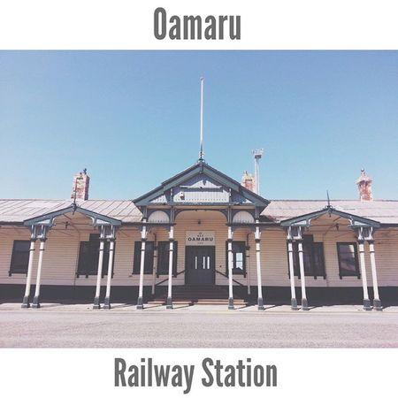 a perfect Victorian style station. Oamaru Whitestone Southisland Otago